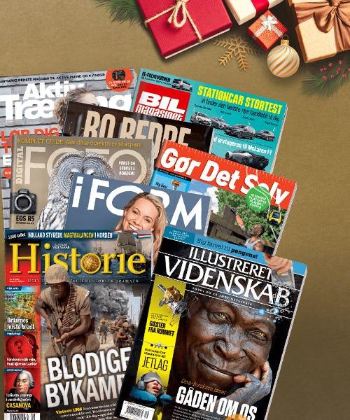 Giv et gavekort til valgfrit magasin